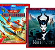 Enter to win MALEFICENT AND PLANES: FIRE & RESCUE on Blu-ray!!