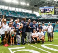 Miami Dolphins Honor SAVE Executive Director Tony Lima at Home Game with The NFL Hispanic Heritage Leadership Award