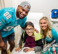 Miami Dolphins Visit Alex's Place at Sylvester Comprehensive Cancer Center