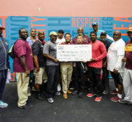 Miami Dolphins Donate Weight Room Equipment to Glades Central Community High School as Part of the Junior Dolphins Donation Program